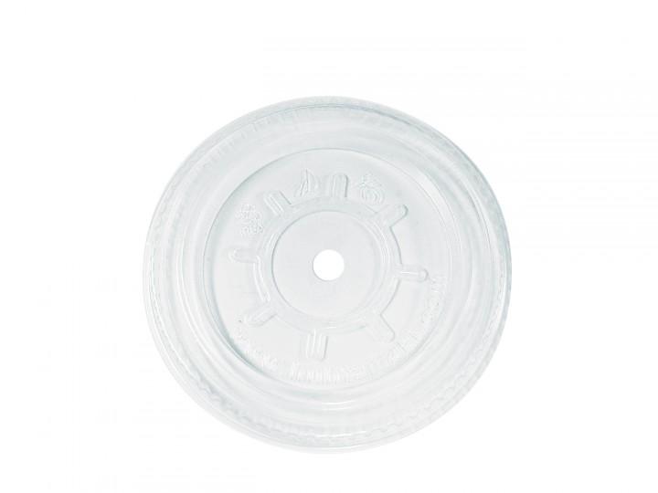 PLA Flachdeckel mit Rundstanzung (95 mm, VE=1.500 Stück)