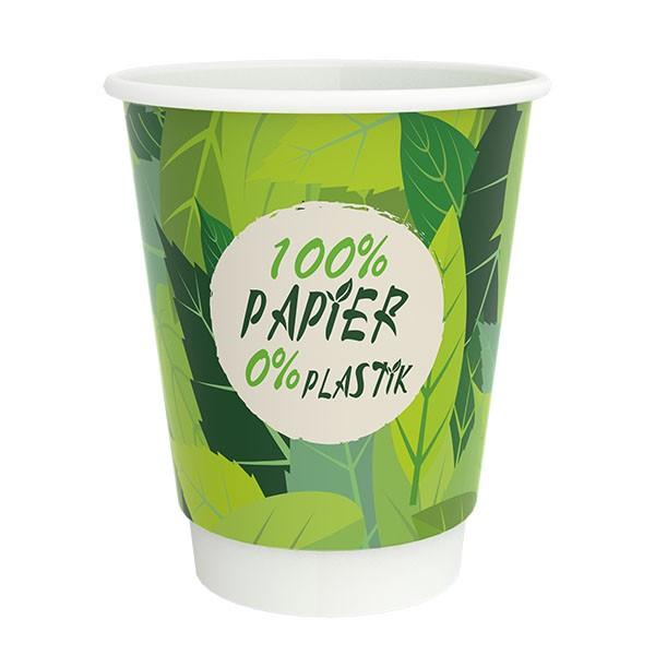 PurePaper Becher doppelwandig, 100% Papier, 0% Plastik
