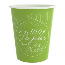 PurePaper Becher einwandig, 100% Papier, 0% Plastik